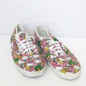 Vans Hello Kitty Lace Up Sneakers Women 10 Men 8.5
